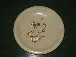 渡良瀬焼 鉄絵皿